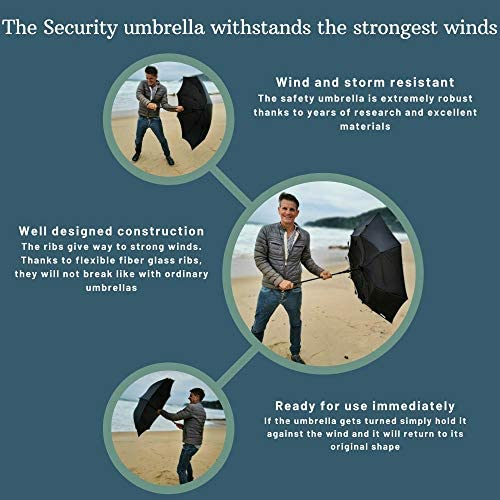 "Security Umbrella""City-Safe"" | shorter self defense umbrella | tactical umbrella | assembled in the US | German handmade woodhandle | umbrella weapon"