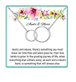 Onepurposegifts Aunt& Nieces Gifts Set Necklace for Birthday Gift, (Silver)