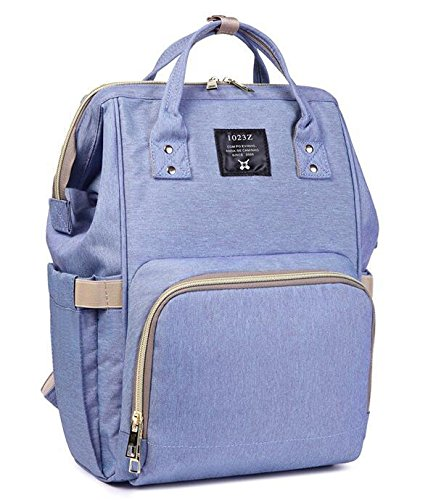 51OUULMCMBL - Okayji Multi-Function Waterproof, Baby Travel Backpack Diaper Bag with Large capacity baby Nappy Compartment (Purple)