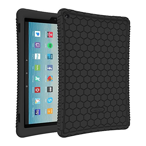 fintie silicone case for all new amazon fire hd 10 tablet 7th generation 2017 release. Black Bedroom Furniture Sets. Home Design Ideas