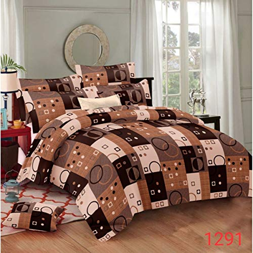 51OW1llN5VL - Fabture Glace Cotton Check Printed 180 TC Double Bedsheet with 2 Pillow Covers (Standard Multicolur)
