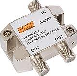 BAMF 2-Way Coax Cable Splitter Bi-Directional MoCA 5-2300MHz