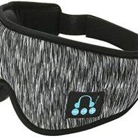 IPOTCH uyku kulaklığı, 3D göz maskesi, Bluetooth 5.0 kablosuz müzik maskesi, göz farı kapağı, göz farı kapağı, erkek kadın uyku, seyahat için, koyu gri 16