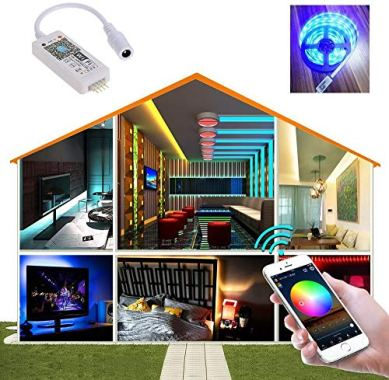 Smart-WiFi-LED-Controller-RGB-Led-Strip-Lights-Wireless-Controller-Compatible-with-Alexa-Google-Home-IFTTT-Free-Magic-Home-App-via-iOS-or-Android-Smartphone-2-Pack