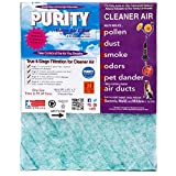 Purity Air Filter with Activated Carbon for Air Returns, Registers, and Vents - Trim-To-Fit up to 20x25x1 Reduces dust, pollen, dander, smoke, and odors, VOC's.(Pack of 2)