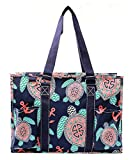 N Gil All Purpose Organizer Medium Utility Tote Bag (Sea Turtle Navy Blue)
