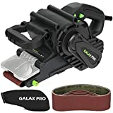 Belt Sander, GALAX PRO 8 Amps 120-380RPM Corded Sander with Variable Speed Settings, 5PCS Sanding Belts(3x21 Inch) & Dust Bag for Stock Removal