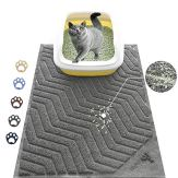 WePet-Cat-Litter-Mat-Kitty-Litter-Trapping-Mesh-Mat-35-x-23-Inch-Large-Grey-Premium-Durable-PVC-Rug-No-Phthalate-Urine-Waterproof-Easy-Clean-Washable-Scatter-Control-Litter-Box-Carpet