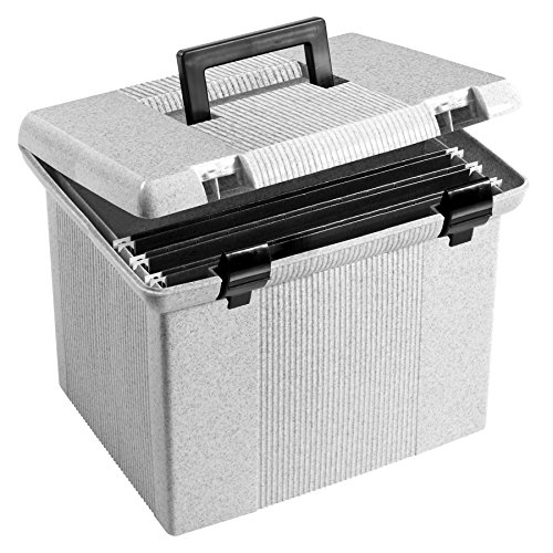 Pendaflex Portable File Box, 11'H x 14' W x 11 1/8' D, Granite (41747)