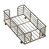 Hoffmaster BSK2112 Wire Guest Towel Basket, 8.75' x 5' x 3', Bronze