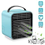 RGCTL Portable Air Conditioner Cooler Fan, Personal Space Air Cooler Mini USB Desk Fans 3 In1 Small Cooling...