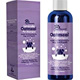 Colloidal Oatmeal Dog Shampoo with Pure Lavender Essential Oils - No Tear Shampoo for Dry Itchy Skin Relief - Pet Odor Eliminator - Grooming Shampoo