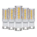 G9 LED Light Bulb 5W T4 40W Halogen Replacement by Simba Lighting for Pendants, Ceiling Lights, Desk Lamp, Wall Sconce, 120V JCD Bi-Pin Base Non-Dimmable, 3000K Soft White, Pack of 5
