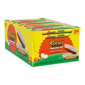 Reese's MallowTop Milk Chocolate and Marshmallow flavored white crème Peanut Butter Cups Candy Easter 1.2 oz Pack 24 Count, Peanut-Butter, 28.8 Ounce