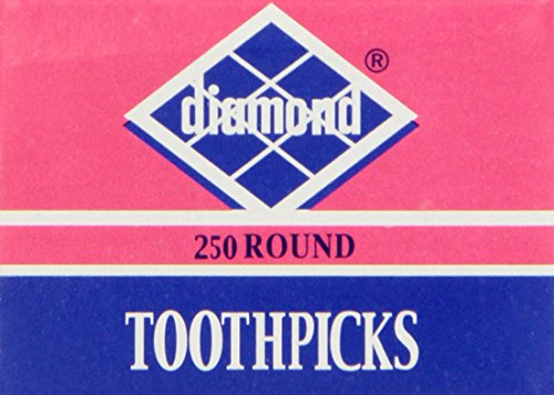 Diamond Round Toothpick Tray, 250 Count
