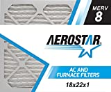 Aerostar 18x22x1 MERV 8, Pleated Air Filter, 18x22x1, Box of 4, Made in The USA