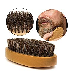 Beard Brush for Men Long Beard Grooming and Shaping, Boar Bristle Beard Comb Natural Bamboo Facial Pocket Brush for Mustache Styles Short, Great with Beard Oil, Balm, Beard Shampoo and Conditioner  Image