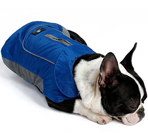 UsefulThingy Dog Rain Coats for Small Medium or Large Dogs - Rain Jacket with Reflective Stripes for Safety - Warm Waterproof Raincoat with Harness Hole, 7 Sizes 3 Colors 1