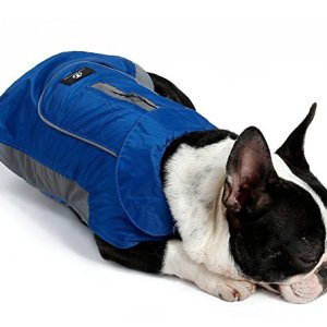UsefulThingy Dog Rain Coats for Small Medium or Large Dogs – Rain Jacket with Reflective Stripes for Safety – Warm Waterproof Raincoat with Harness Hole, 7 Sizes 3 Colors