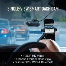 Cobra-Smart-Dash-Camera-for-Cars-SC-100-Full-HD-1080P-Video-Recording-Built-in-WiFi-Embedded-GPS-140-Degree-View-8GB-SD-Card-Instant-Driver-Alerts-Remote-Vehicle-Monitoring-Front-Cam-Only