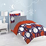 Dream Factory All All Sports Comforter Set, Twin, Navy