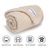 Furrybaby Premium Fluffy Fleece Dog Blanket, Soft and Warm Pet Throw for Dogs & Cats (Small 24x32'', Beige)
