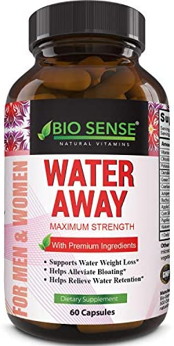 Natural Diuretic Water Away Pills Vitamin B6 Potassium & Dandelion Root Extract Water Retention Anti-Bloating and Swelling Capsules Weight Loss for Women & Men with Antioxidant Green Tea by Bio Sense 4