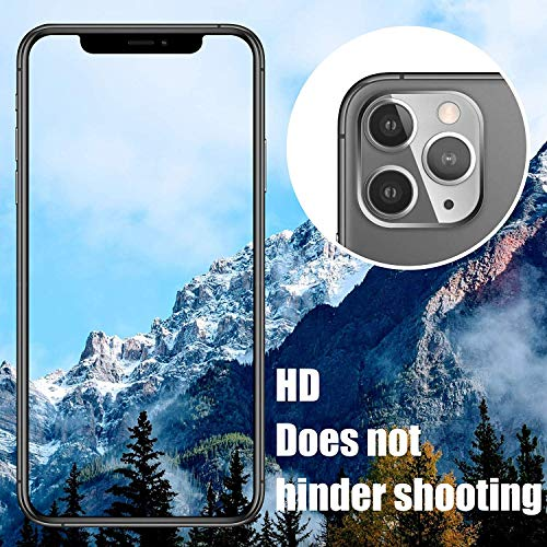 Remixmart™Lens Screen Protector Tempered Glass Compatible with iPhone 11 Pro/iPhone 11 Pro Max Camera 9H Hardness Anti-Scratch Explosion-Proof Protective Camera Lens Hard Protector (Clear) 7