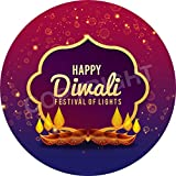 Happy Diwali Festival of lights Sticker Labels (24 Stickers, 1.8'' Inch Each) Seals Ideal for Party Bags, Sweet Cones, Favours, Jars, Presentations Gift Boxes, Bottles, Crafts