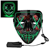 Poptrend Halloween Cosplay LED Light Mask(Green)