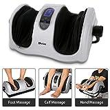 Foot Calf Massager with Heat, Shiatsu Deep Kneading Massage Machine for Foot Calf Arm, Stimulate Blood Circulation Treatment for Plantar Fasciitis
