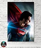 Superman Man of Steel Comic Book Movie Box Framed Canvas Print - Wall Art - Ready To Hang