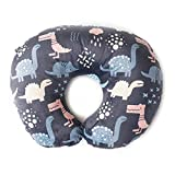 Minky Nursing Pillow Cover   Dinosaurs Pattern Slipcover   Best for Breastfeeding Moms   Soft Fabric Fits Snug On Infant Nursing Pillows to Aid Mothers While Breast Feeding   Great Baby Shower Gift