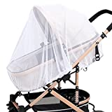 4 Pack Baby Mosquito Net for Strollers Carriers Car Seats Cradles, Portable & Durable Infant Insect Shield Netting, Babies Fly Screen Protection, White