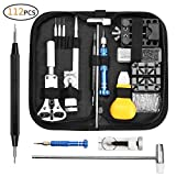 Watch Repair Tool Kit, Professional Spring Bar Tool Set Watch Band Link Pin Tool Set, Watch Battery Replacement Tool with Carrying Bag