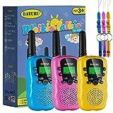 BATURU Walkie Talkies for Kids, Long Range Kids Walkie Talkies 3 Pack with LCD Flashlight, Walkie Talkies Toys for 3-12 Year Old Boys & Girls, Outdoor Camping Game
