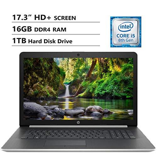 HP-Notebook-173-HD-Screen-Laptop-Intel-Core-i5-8265U-Up-to-39GHz-16GB-DDR4-RAM-1TB-Hard-Disk-Drive-Wireless-AC-Bluetooth-HDMI-USB-30-RJ-45-DVD-RW-Windows-10-Silver