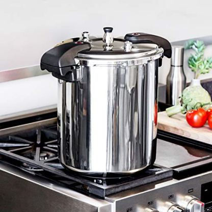Buffalo-QCP420-21-Quart-Stainless-Steel-Pressure-Cooker-Classic-Series