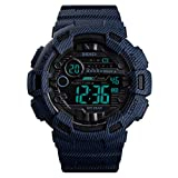 Kismary Boys Camouflage Waterproof Sports Digital Watch Outdoor, Camouflage Military Silicone Luminous Army Time LED Sport Watch for Teenagers (Denim Blue)