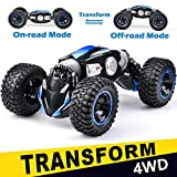 NQD RC Car Off-Road Vehicles Rock Crawler 2.4Ghz Remote Control Car Monster Truck 4WD Dual Motors Electric Racing Car, Kids Toys RTR Rechargeable Buggy Hobby Car (Blue)