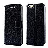 CaseHQ Wallet case for iPhone 8 Plus/7 Plus, Magnetic Closure Credit Card Slot Flip Fold Card Case Stylish Slim Stand Cover with Wallet Case for Apple iPhone 8 Plus/iPhone 7 Plus -Black
