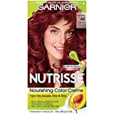 Garnier Nutrisse Nourishing Hair Color Creme, 66 True Red (Pomegranate)  (Packaging May Vary)