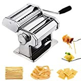 CHEFLY Pasta Ravioli Maker Set All in one 9 Thickness Settings for Fresh Homemade Fettuccine Spaghetti Lasagne Dough Roller Press Cutter Noodle Making Machine P1802