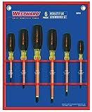 Westward 5UFX5 Insulated Combo Screwdriver Set, 6 Pc