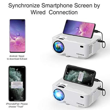 TOPVISION-Mini-Projector-4000LUX-Outdoor-Movie-Projector-with-Synchronize-Smart-Phone-Screen-Video-Projector-1080P-Supported-Compatible-with-Fire-StickHDMIVGAUSBTVBoxLaptopDVD