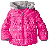 ZeroXposur Girls' Little Twinkle Puffer Coat, Camellia Small-4