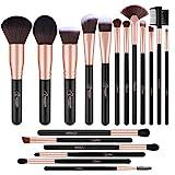 BESTOPE Makeup Brushes 18 PCs Makeup Brush Set Premium Synthetic Foundation Powder Kabuki Brushes Concealers Eye Shadows Make Up Brushes Kit