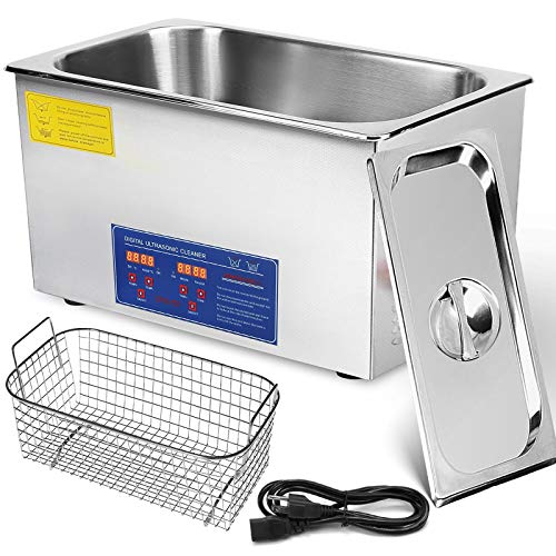 Mophorn Ultrasonic Cleaner 22L Commercial Ultrasonic Cleaner with HEA Professional Stainless Steel Industrial Ultrasonic Cleaner Jewelry Cleaner with Heater Timer(22L)