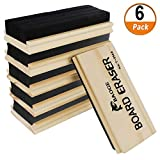 Chalkboard Erasers 6 Pack Wool Felt Eraser Dustless Blackboard Eraser Cleaner Chalk Eraser for Teachers and Kids