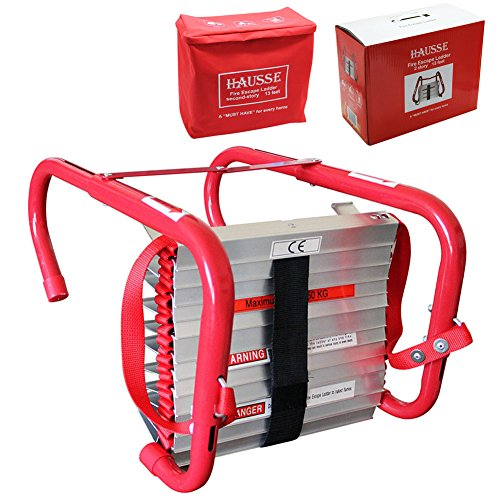 Hausse Retractable 2 Story Fire Escape Ladder, 13 Feet
